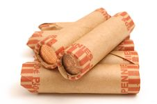 Free Rolled Pennies Stock Photo - 1930210