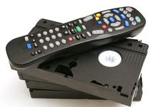 Free Remote Control With Vhs Tapes Royalty Free Stock Photo - 1930265