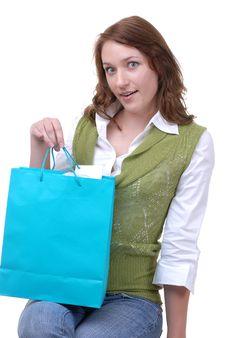 Proud & Happy Teen Shopper Royalty Free Stock Photo