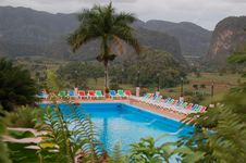Free Pool In Mountain Landscape Stock Photography - 1931432