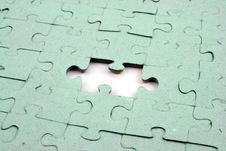 Free Jigsaw One Bit Out Stock Photography - 1931652