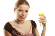Free Woman With A Martini Glass Stock Image - 1931731