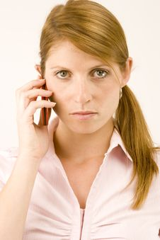 Free Woman With Phone. Royalty Free Stock Photos - 1932118