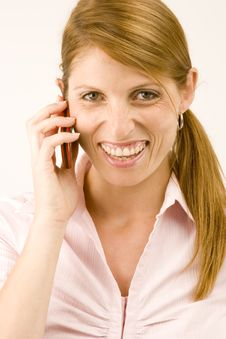 Free Woman With Phone. Stock Photos - 1932123