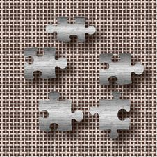 Puzzle Pieces 3d Royalty Free Stock Photo