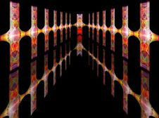 Abstract Colorful Futuristic Corridor Royalty Free Stock Photography