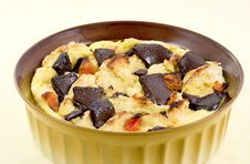Bread Pudding With Chocolate Stock Photos