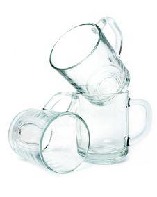 Three Empty Glass Mugs Stock Photography