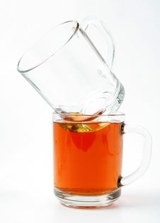 Free Twoo Glass Mugs And Black Tea Stock Images - 1934884