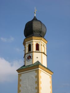 Free Top Of One Beautiful Bavarian Church In Baroque Style Stock Photos - 1935843