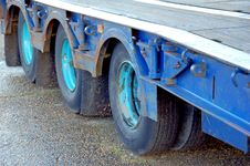 Articulated Trailer Wheels Stock Image