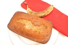 Free Banana On Top Bread Royalty Free Stock Image - 1937666