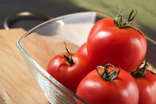 Free Tomatoes In A Glass Bowl Royalty Free Stock Photos - 1937778