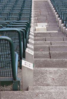 A Row Of Seats Stock Photo