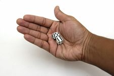 Free Pair Of Dice In A Hand Stock Images - 1939334