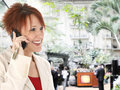 Free Business Woman On Cellphone At Gaylord Opryland Stock Photo - 19300000