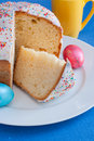 Free Easter Cake On White Plate. Royalty Free Stock Image - 19301386