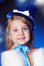 Free A Fairy-tale Girl Is In Dark Blue Royalty Free Stock Image - 19302236