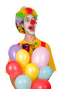 Free Colorful Clown With Balloons Stock Photo - 19303700