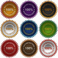 Free Satisfaction Guarantee Labels. Royalty Free Stock Images - 19309519