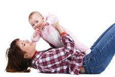 Free Young Mother Playing With Her Baby Royalty Free Stock Photography - 19300197