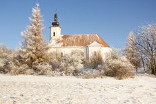 Free Winter Church Royalty Free Stock Photos - 19300728