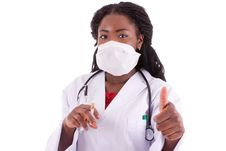 Free The Young Black Doctor Stock Photo - 19300770