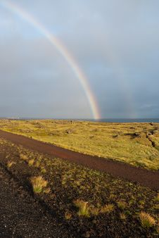 Free Double Rainbow In Iceland Stock Photo - 19300790