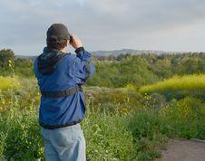 Free Man Looking Through Binoculars Stock Photos - 19301013