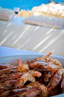 Free Platter Of Prawns. Stock Images - 19301024