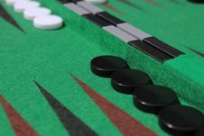 A Game Of Backgammon Royalty Free Stock Photo