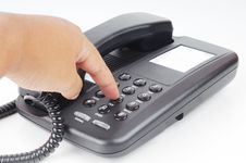 Free A Hand Dialing Phone Number Stock Photography - 19301282