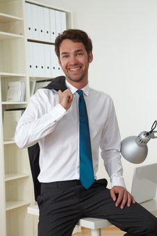 Free Business Man In Office Stock Image - 19301371