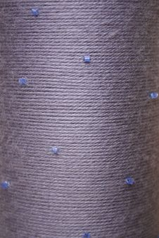 Free Round Texture Of Grey Woolen Threads Beads Royalty Free Stock Photos - 19301668