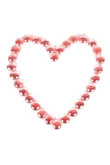Free Red Glass Balls Heart Shape Stock Photos - 19301683