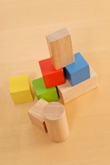 Free Wood Building Blocks Stock Photos - 19301743
