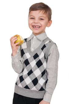 Free Boy With Apple Royalty Free Stock Photos - 19301838