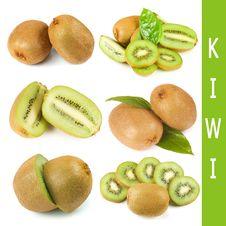 Free Fresh Kiwi Collage Royalty Free Stock Photography - 19302047