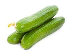 Three Cucumbers Royalty Free Stock Photos