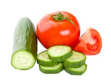 Free Cucumbers And Tomatoes Royalty Free Stock Images - 19302209