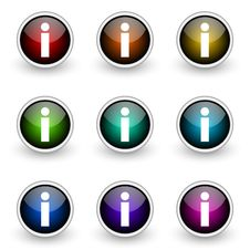 Free Info Button Set Stock Photo - 19302870
