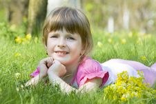 Free Girl In The Grass Royalty Free Stock Photography - 19302927