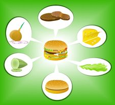 Free Hamburger. Stock Photo - 19303070