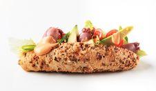 Calamari Sandwich Stock Photography