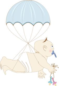 Free Boy On A Parachute Stock Images - 19303144
