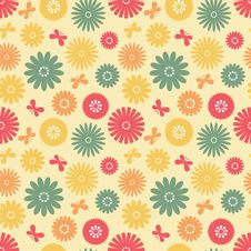 Free Seamless Floral Pattern Royalty Free Stock Photos - 19303158