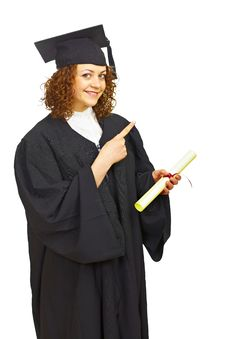 Free Happy Graduation Student Isolated Royalty Free Stock Photography - 19303377