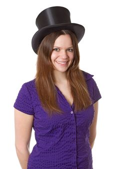 Free Woman With  Chapeu Claque Stock Images - 19303884