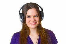 Free Young Woman With Headphones Stock Images - 19303894