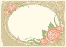 Free Vintage Background With Roses. Stock Images - 19303914